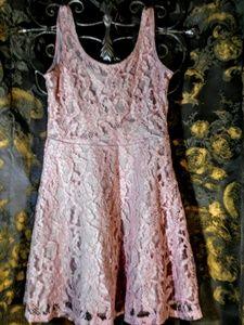 H&M pink lace embellished dress